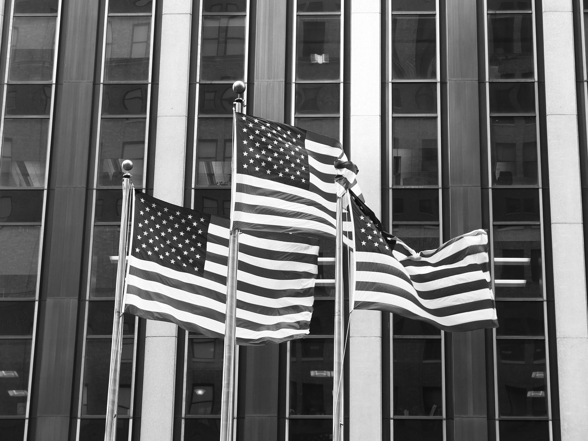 New York Flag Department near Madison Square Garden