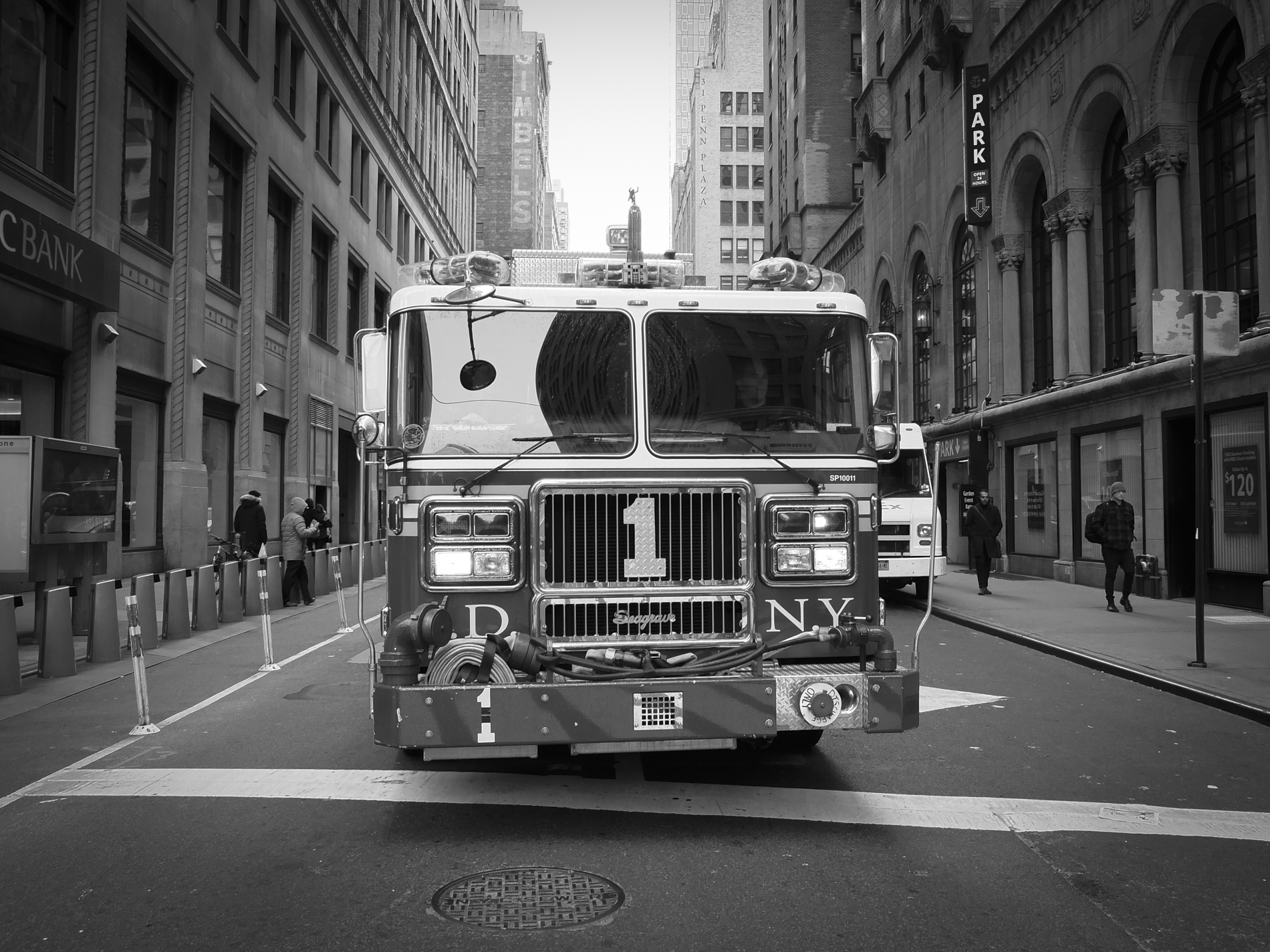 New York Fire Department on the road in Manhattan