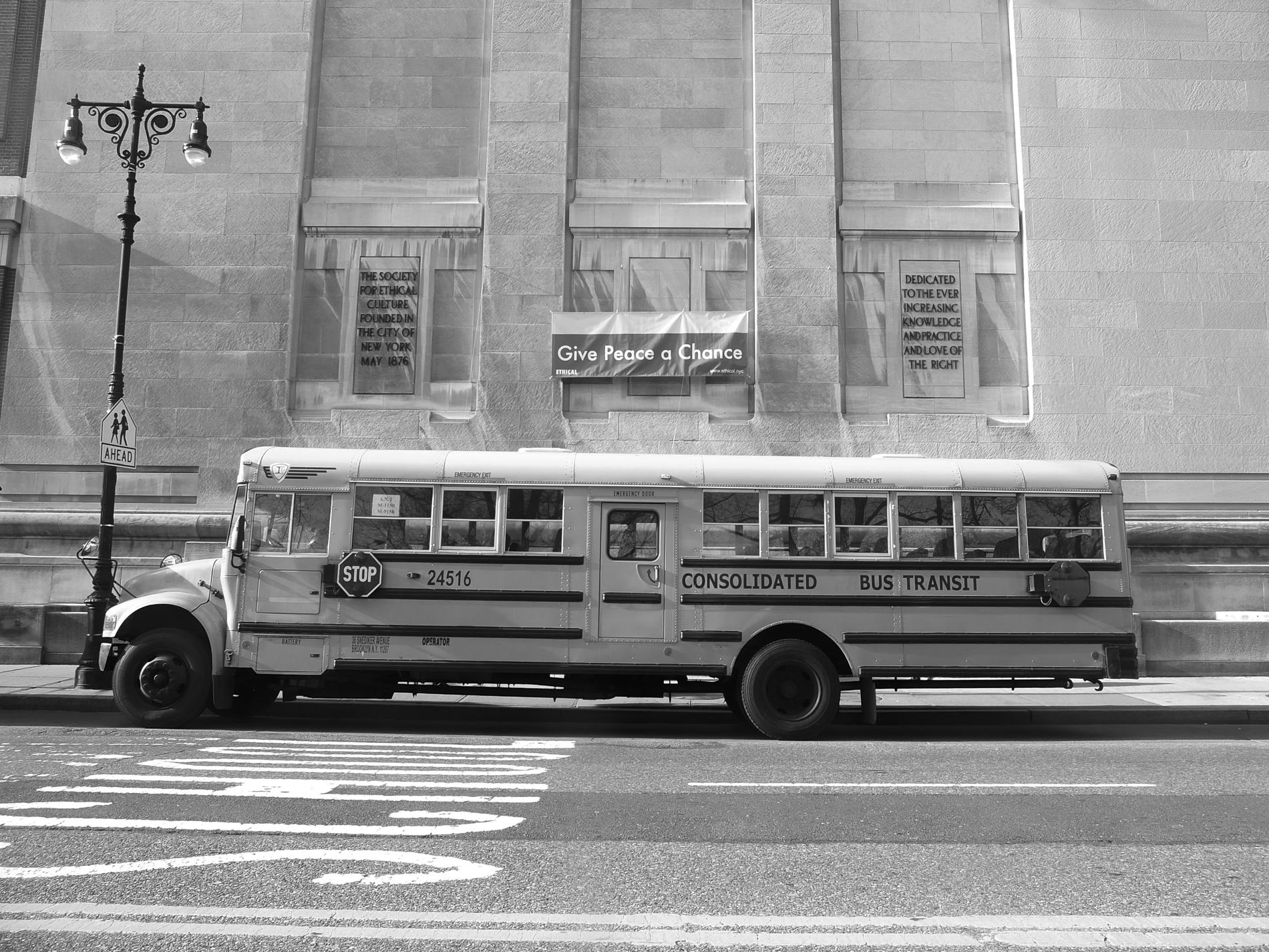 New York School Bus @ Central Park