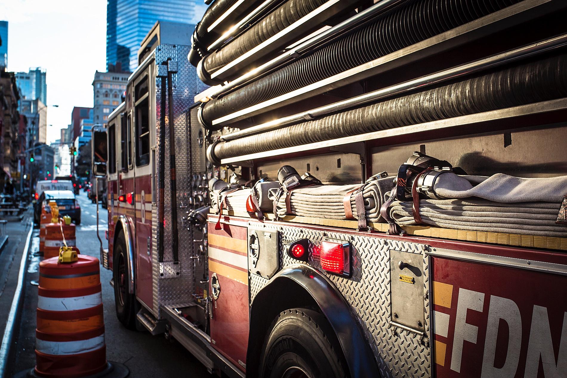 firetruck lower manhattan