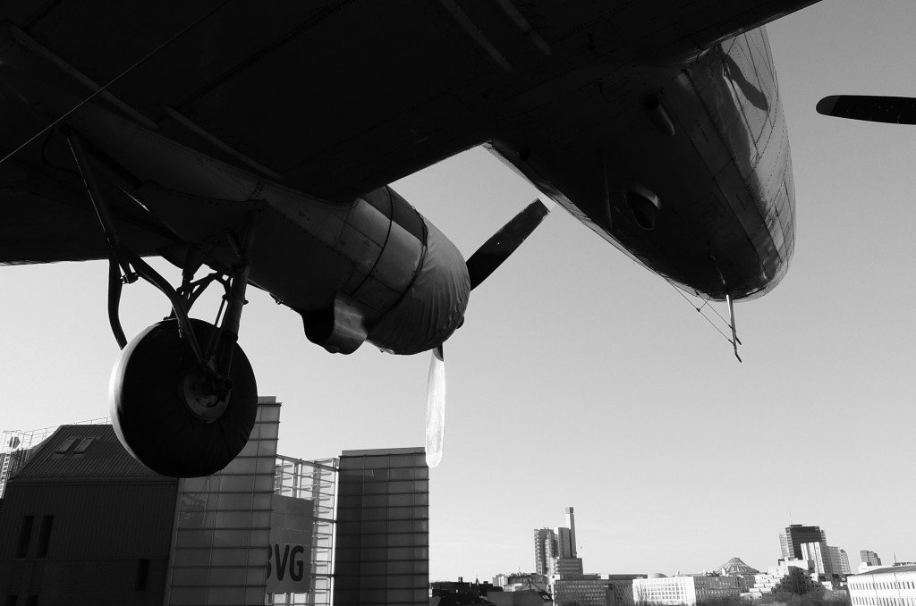 Rosinenbomber im Anflug auf Berlin